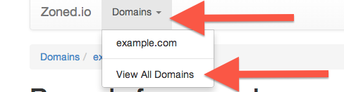 How to view all domains